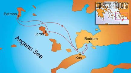 Bodrum Karte.Griechische Inseln Und Gökova Komfortable Blaue Reise Auf Der Magic