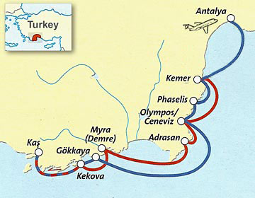 From Antalya to Kas and Kekova