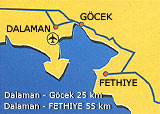 Airport distances to Dalaman